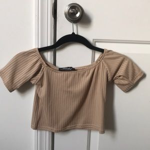 Never worn off the shoulder crop top! NWT